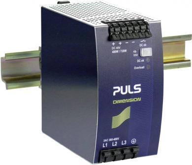 Sursă de alimentare trifazată Puls Dimension QT20.481, şină DIN, 48 V/DC, 10 A, 480 W