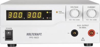 Sursă de alimentare programabilă cu port USB Voltcraft PPS-11603, 1 - 60 V/DC, 0 - 2.5 A, 160 W