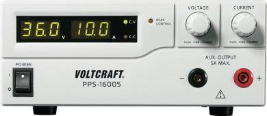 Sursă de alimentare programabilă cu port USB Voltcraft PPS-16005, 1 - 36 V/DC, 0 - 10 A, 360 W