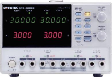 Sursă de alimentare programabilă cu port USB GW Instek GPD-4303S, 0 - 30 V/DC, 0 - 3 A, 195 W