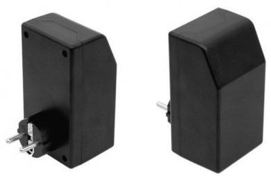Carcasă pentru alimentator SG 1021, negru, 121 x 66 x 55 mm, cu ştecăr Schuko