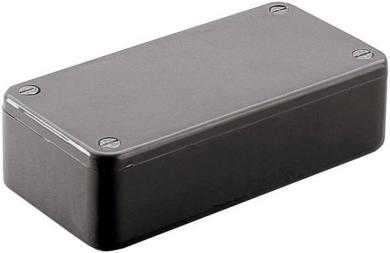 Carcasă euro, plastic ABS, negru, tip 1591VBK, 120 x 120 x 94 mm