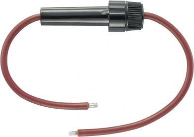 Suport siguranţă, adecvat pentru siguranţă 5 x 20 mm, 32 V/DC, inclusiv cablu roşu 200 mm