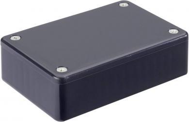 Carcasă euro, plastic ABS, negru, tip 1591MBK, 85 x 56 x 25 mm