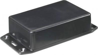 Carcasă euro cu flanşă, plastic ABS, tip 1591MFLBK, 85 x 56 x 25 mm, negru