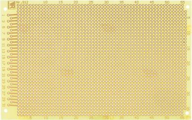 Placă experimentală WR 912, epoxid, 160 x 100 x 1.5 mm