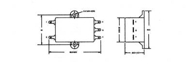 Filtru de reţea universal Yunpen, 2 x 0,7 mH, 6 A