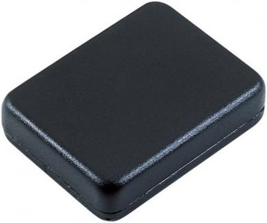 Modul mini-carcasă Strapubox, plastic ABS, negru, 50 x 38 x 14 mm
