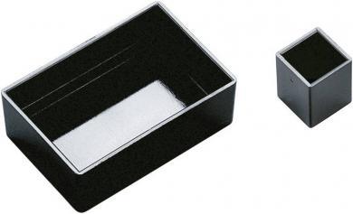 Modul carcasă goală OKW, 25 x 25 x 15 mm, negru