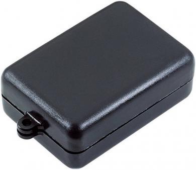 Modul mini-carcasă Strapubox, plastic ABS, negru, 54 x 37 x 21 mm