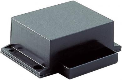 Carcasă plastic Strapubox, neagră 53,5 x 23 x 45 mm