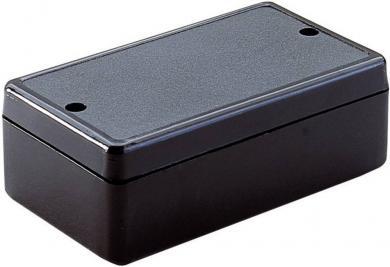 Carcasă plastic 2030 Strapubox, neagră, 80 x 45 x 26 mm