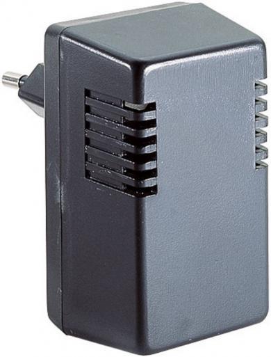 Carcasă pentru alimentator, plastic ABS, negru, 43 x 73.5 x 37 mm, cu ştecăr Euro turnat