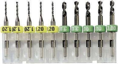 Burghiu din metal dur Bungard 81009, 0.9 mm, 10 buc.