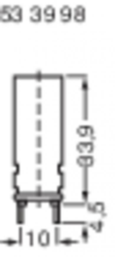 Suport vertical siguranţă 5 x 20 mm, 250 V/AC, 10 A, (Ø x L) 12 x 31,2 mm