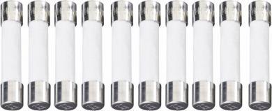 Siguranţă ESKA cu întârziere -T-, 6,3 x 32 mm 0.1 A, 500 V, colet 10 bucăţi