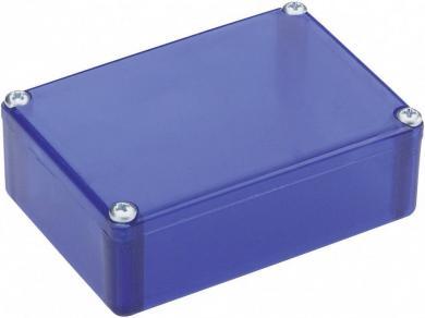Carcasă plastic Strapubox, rezistentă la şocuri, albastru (transparent), 72 x 50 x 26 mm