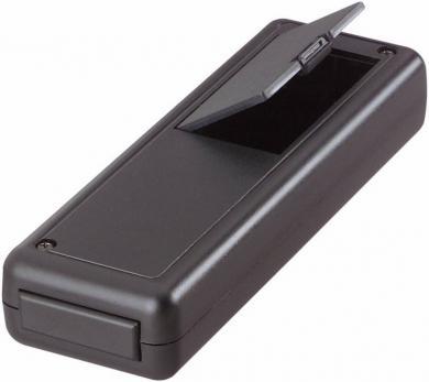 Carcasă portabilă Softline, cu compartiment baterie şi panou frontal demontabil, negru, 135 x 44 x 24 mm