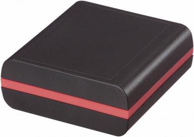Carcasă universală ABS, negru, 80 x 76 x 30 mm, 1 inel distanţier (roşu)