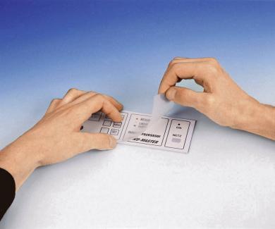 Folie laminată mată (protecţie) DIN A4, transparentă, uşor texturată