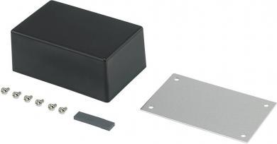 Carcasă plastic ABS, (L x l x Î) 83,5 x 53,5 x 35 mm, neagră