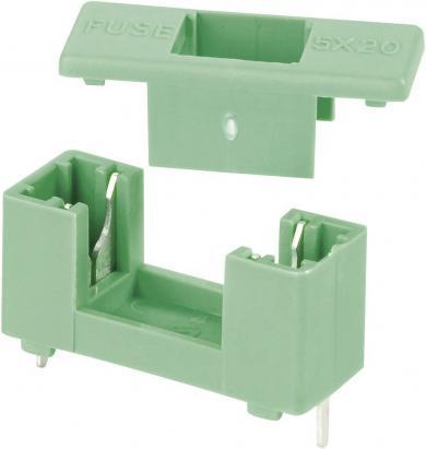 Suport de siguranţă închis, adecvat pentru siguranţe 5 x 20 mm