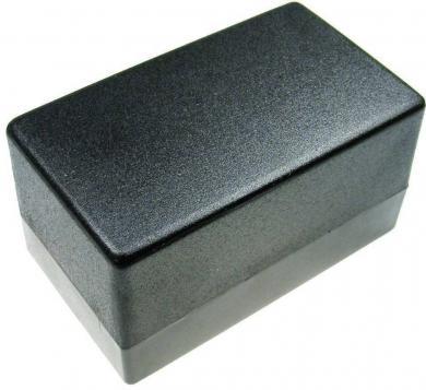 Carcasă plastic, fără flanşă de montare, negru, 120 x 70 x 65 mm
