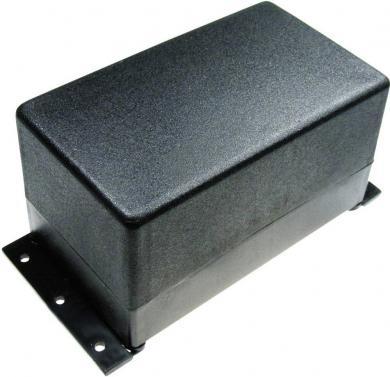 Carcasă plastic, cu flanşă de montare, negru, 120 x 70 x 65 mm