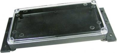Carcasă plastic cu capac transparent G088, cu flanşă de montare, negru, 120 x 70 x 15 mm