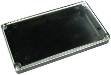 Carcasă plastic cu capac transparent G090, fără flanşă de montare, negru, 120 x 70 x 15 mm