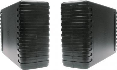 Carcasă plastic ABS 7040, negru, 220 x 145 x 68 mm