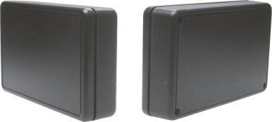 Carcasă plastic 2006SW, negru, 125 x 74 x 27 mm