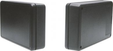 Carcasă plastic cu compartiment baterie 6006 Strapubox, neagră