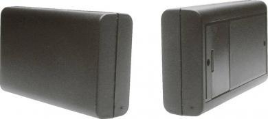 Carcasă plastic 6006SW cu compartiment pentru baterii, negru, 125 x 74 x 27 mm