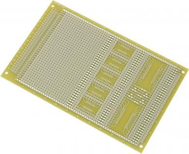 Placă test SMD epoxid (L x l) 160 x 100 mm, 35 µm, distanţă între contacte 2,54 mm, Conrad SU527858