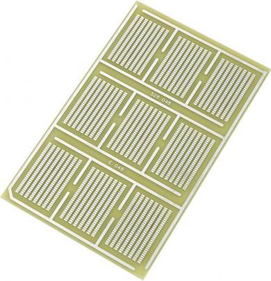 Placă test SMD epoxid (L x l) 160 x 100 mm, 35 µm, distanţă între contacte 1,27 mm, Conrad SU528048
