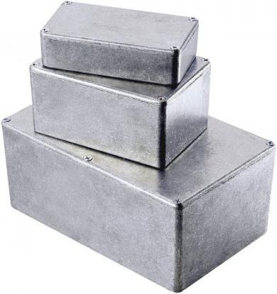 Carcasă de aluminiu turnată, ecranare EMC, IP54, 1590K, 125 x 125 x 75 mm
