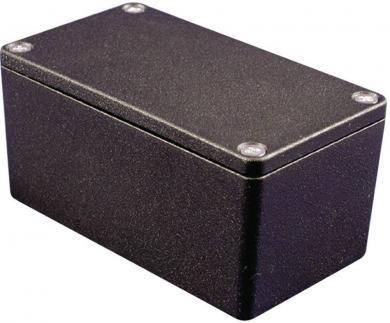 Carcasă de aluminiu IP66, culoare negru, 1550Z137BK, 120.5 x 120.5 x 100.5 mm