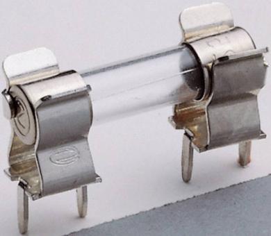 Capac de fixare pentru siguranţe G, 250 V/AC, 6,3 A, versiune 1207 (conexiune longitudinală PCB), sunt necesare două bucăţi per siguranţă