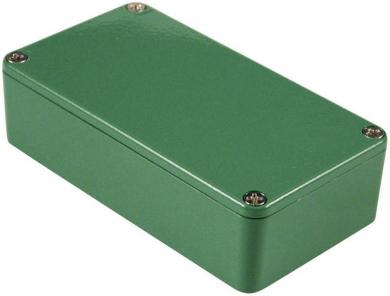 Carcasă de aluminiu IP54, 1590BGR, verde, 111.5 x 59.5 x 31 mm