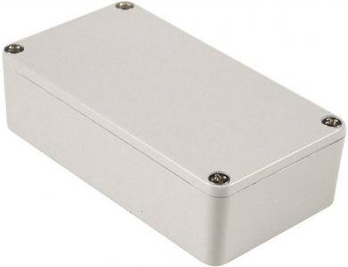 Carcasă de aluminiu IP54, 1590BBLG, gri pal (RAL 7035), 118.5 x 93.5 x 34 mm