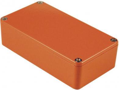 Carcasă de aluminiu IP54, 1590BBOR, portocaliu, 118.5 x 93.5 x 34 mm