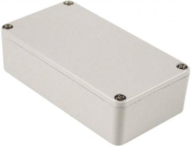 Carcasă de aluminiu IP54, 1590XXLG, gri pal (RAL 7035), 145 x 121 x 39 mm