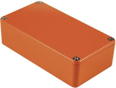 Carcasă de aluminiu IP54, 1590XXOR, portocaliu, 145 x 121 x 39 mm