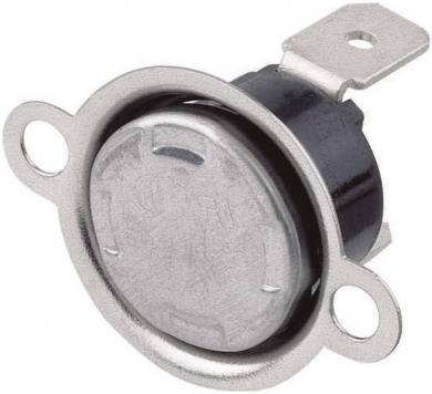 Comutator bimetal, temperatură de deschidere 145 °C (± 5 °C), temperatură de închidere 105 °C
