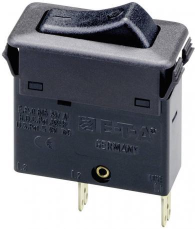 Întrerupător basculant cu protecţie termică 3130-F110-P7T1-W01Q-0.5A, 0,5 A, 1 pol protejat