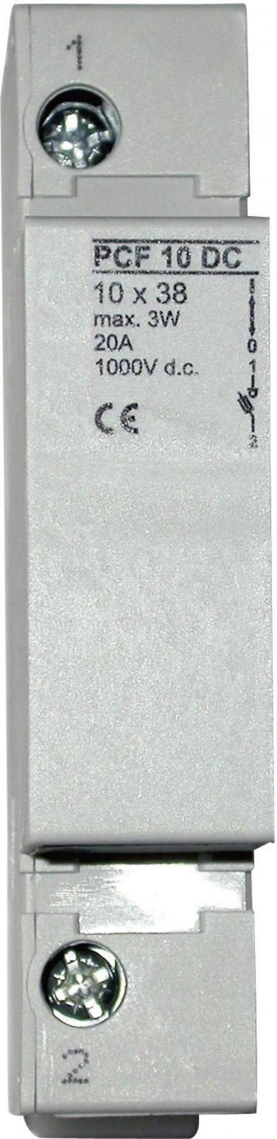 Suport siguranţă Eska 10,3 x 38 mm, tip 1038002, 2 poli