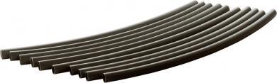 Set tuburi termocontractabile HIS-3, Ø nominal necontractat 1.5 mm, Ø nominal contractat 0.5 mm, negru, 10 bucăţi, secţiuni de 20 cm
