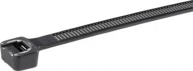 Colier cablu stabil la intemperii, UV poliamidă 6.6 (PA66W), 188 x 4.8 mm, Ø fascicul 48 mm, negru, la pachet, 100 bucăţi