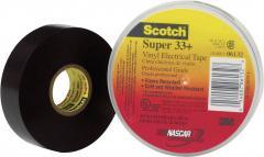 Bandă adezivă izolatoare Scotch Super 33, (L x l) 6 m x 19 mm, negru, 3M